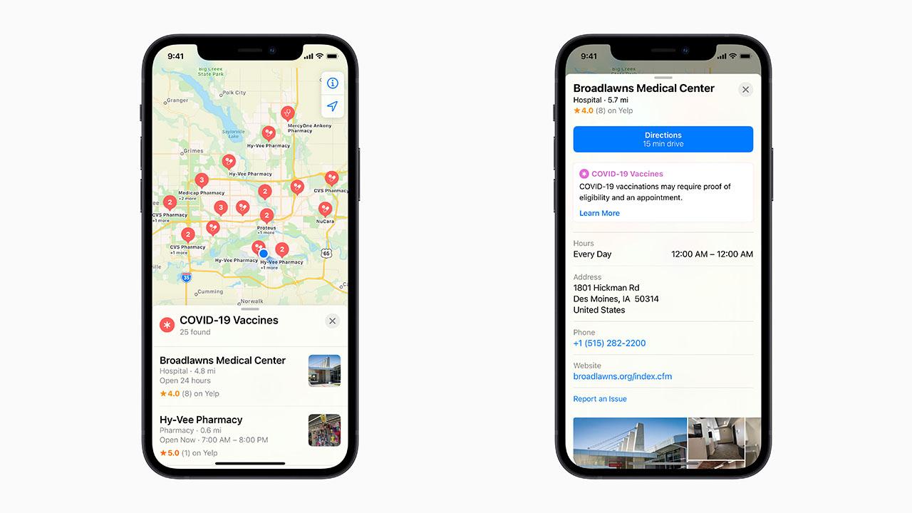 Mappe di Apple consente di prenotare il vaccino COVID-19 thumbnail