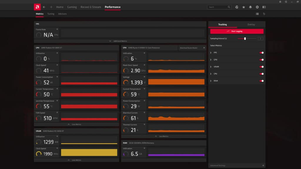 AMD Radeon Software Adrenali - Performance