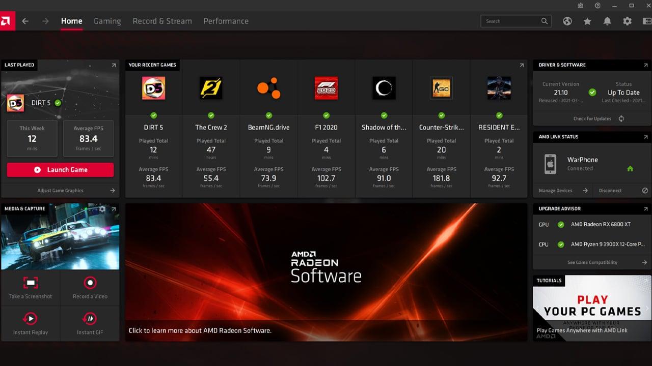 AMD Radeon Software Adrenalin 21.4.1, tutte le novità dell'ultima versione thumbnail