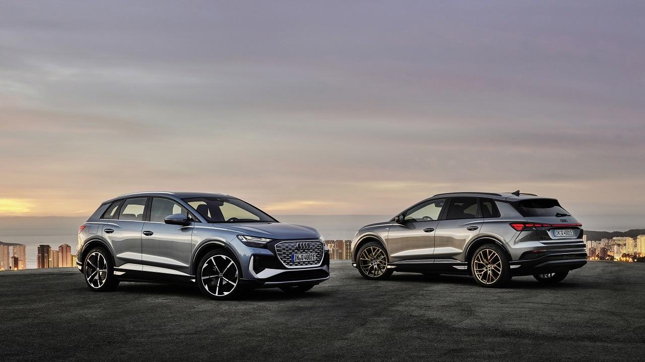 Audi Q4 e-tron e Q4 Sportback e-tron, i due SUV elettrici medi di Audi offrono fino a 299 CV e 520 km di autonomia thumbnail