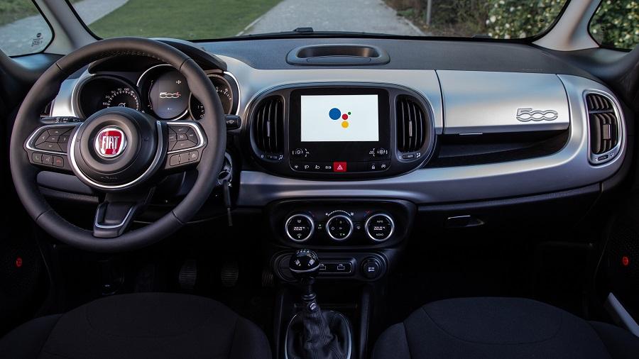 FIAT 500 Hey Google interno 500L