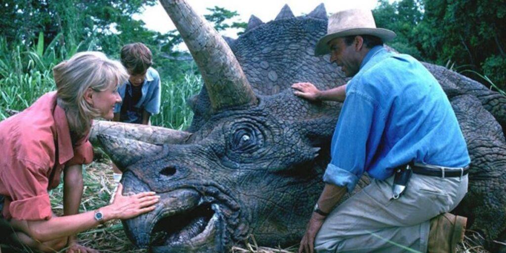 Jurassic Park vita reale carezze