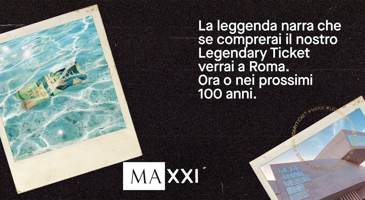 Il MAXXI lancia il Legendary Ticket, il biglietto che vale 100 anni thumbnail