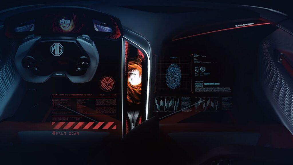 MG Cyberster concept interni