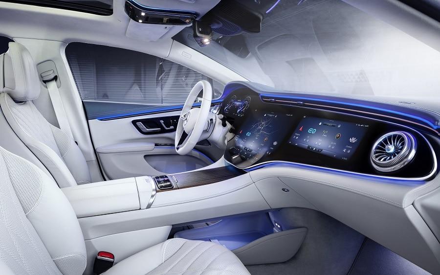 Mercedes EQS interni laterale