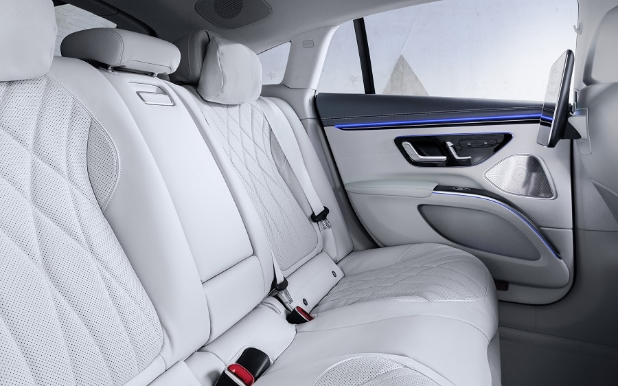 Mercedes EQS 2021 posteriore interni