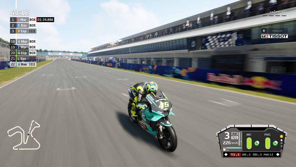 MotoGP 21 recensione gara