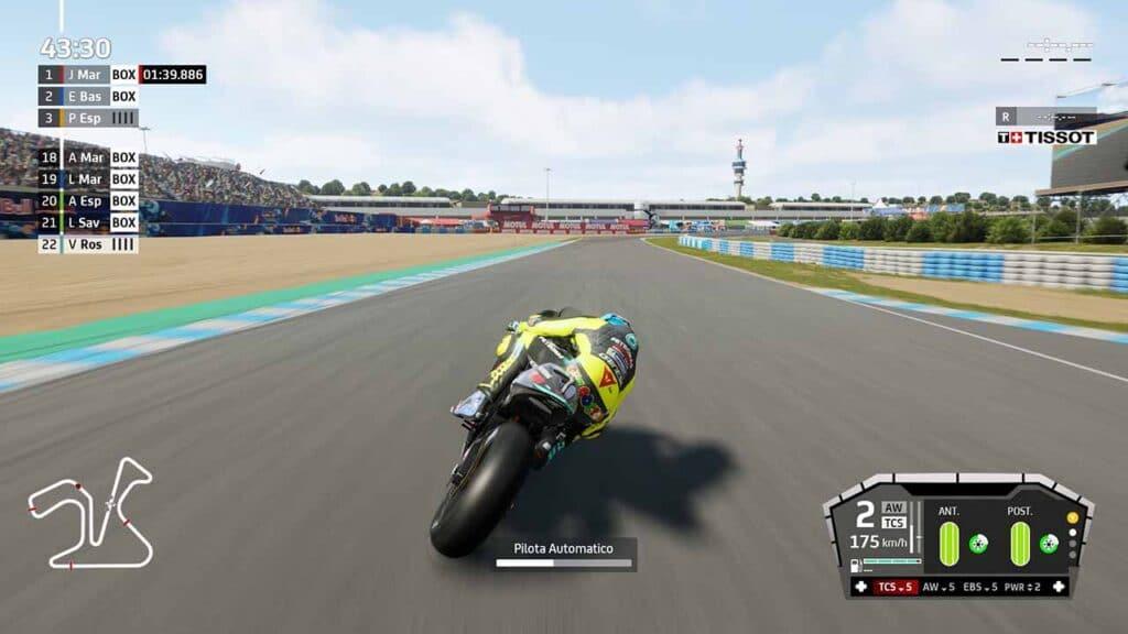 MotoGP 21 recensione retro gara