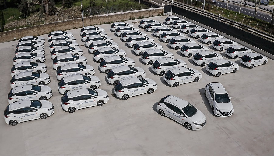 Nissan leaf guardia costiera flotta