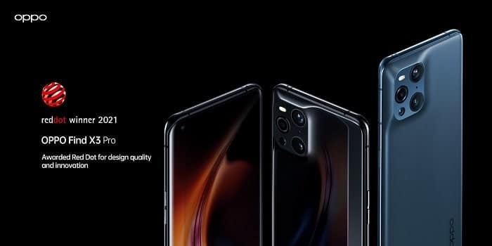 OPPO Find X3 Pro Red Dot Award 2021