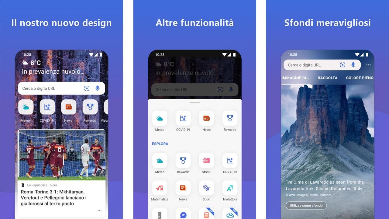 Si rinnovano le applicazioni OneDrive e Bing per Android thumbnail
