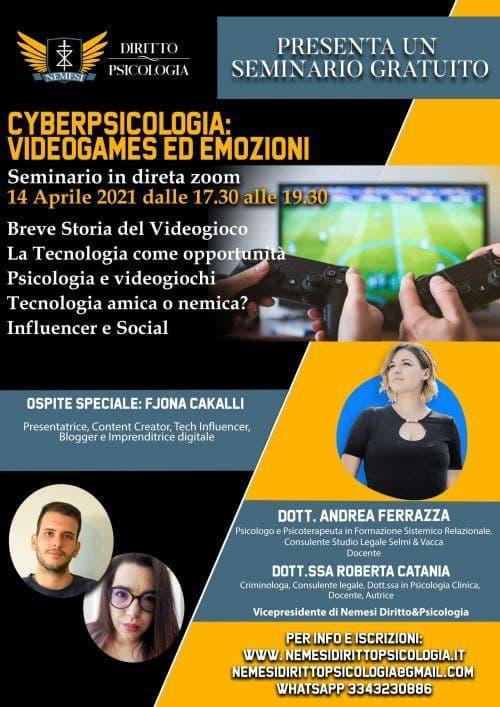 seminario nemesi psicologia e videogiochi
