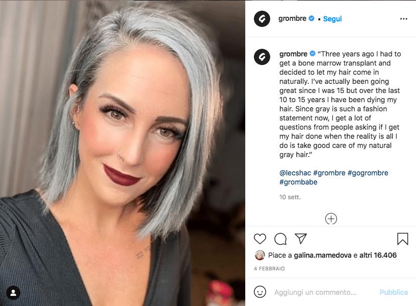 capelli grigi Grombre