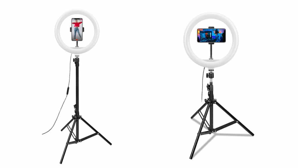 celly accessori smartphone - treppiede ring light
