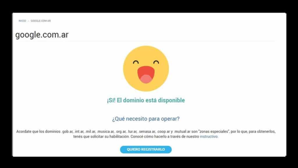 dominio google argentina