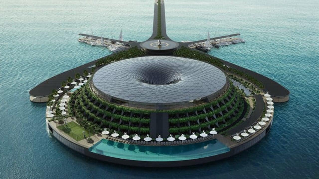L'hotel galleggiante di lusso che si alimenta da solo thumbnail