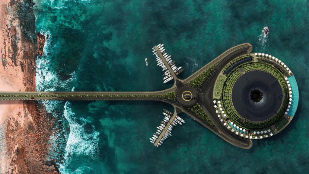 hotel di lusso sostenibile galleggiante Qatar