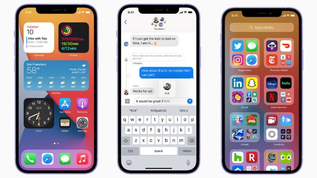 iPhone con iOS 14.5 in attesa delle novità di iOS 15