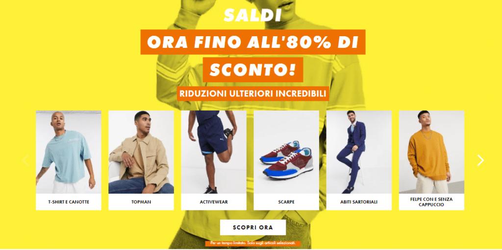 Negozi online abbigliamento Asos