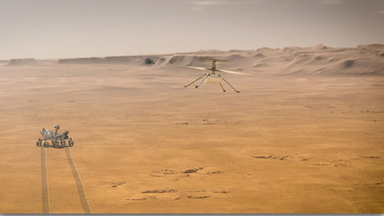 L'elicottero NASA Ingenuity spicca il volo su Marte: ecco il video thumbnail