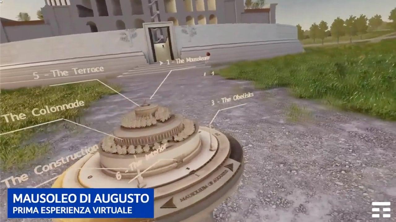 Mark Zuckerberg visita virtualmente il Mausoleo di Augusto thumbnail