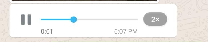 Messaggi vocali WhatsApp velocizzati