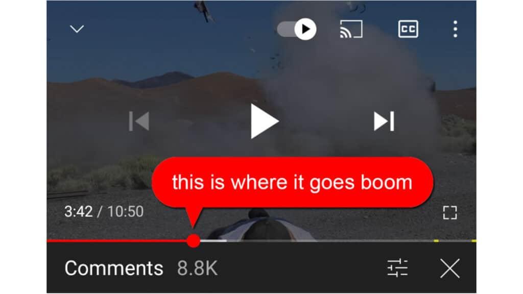 nuovo sistema di commenti youtube simile a soundcloud
