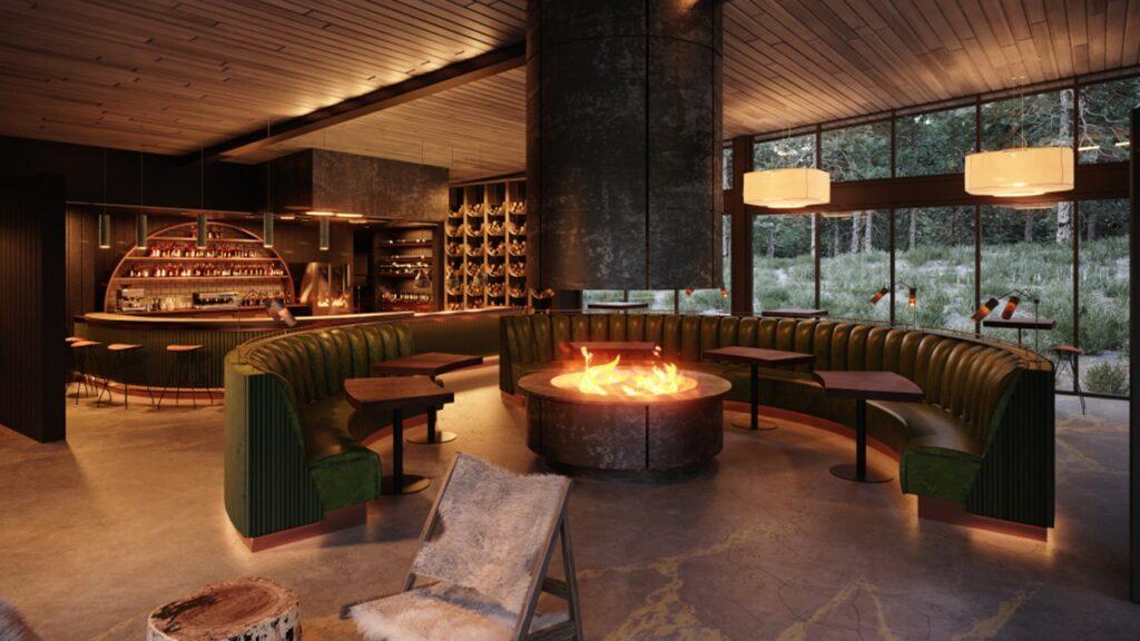ristoranti tavoli all'aperto e grandi spazi interni