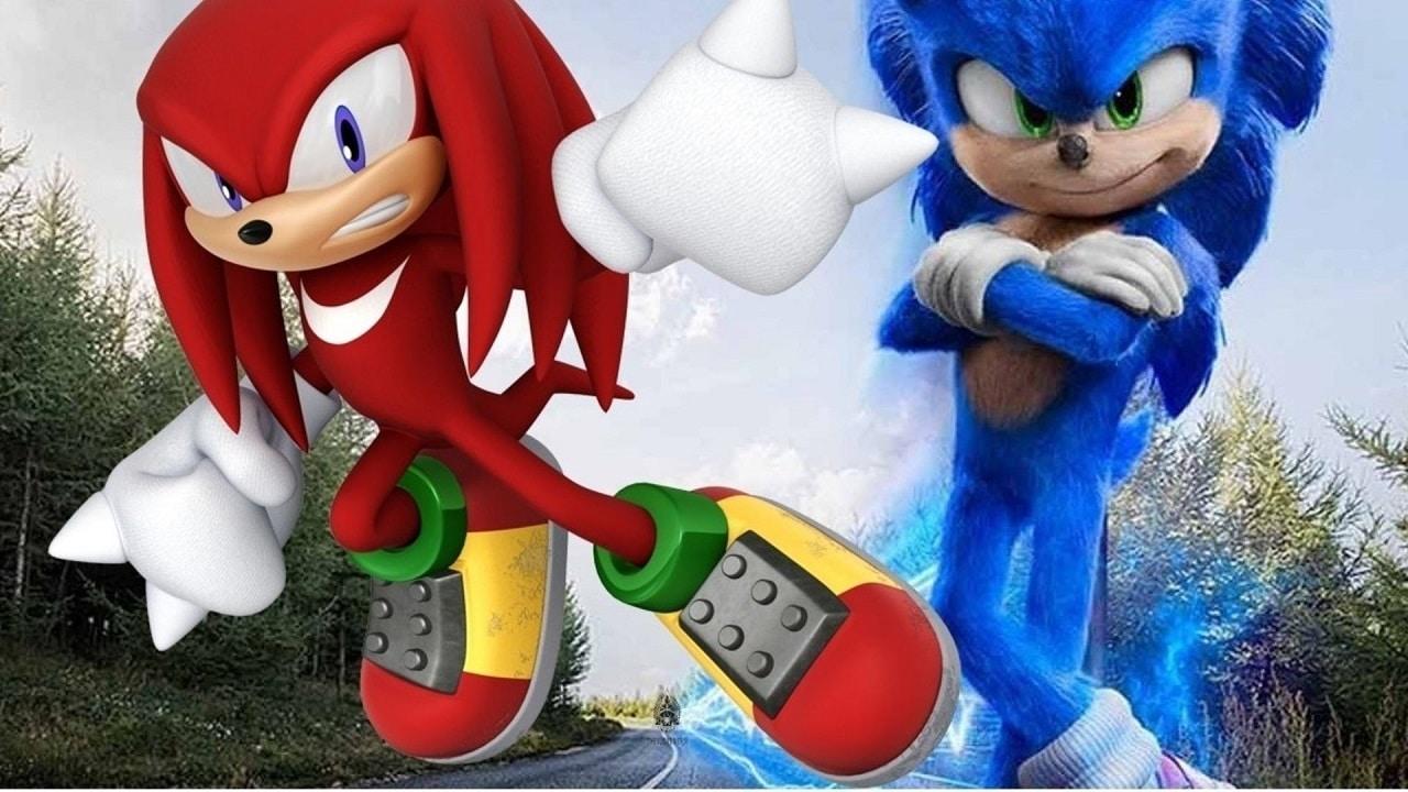 La presenza di Knuckles in Sonic 2 confermata dalle prime foto thumbnail