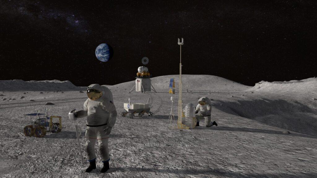uomo sulla Luna NASA sceglie SpaceX