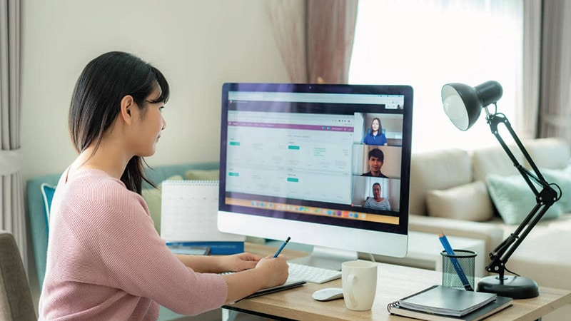 videoconferenze realta digitale psicologia smart working donna