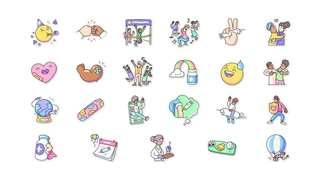 WhatsApp lancia degli sticker per i vaccini insieme all'OMS thumbnail