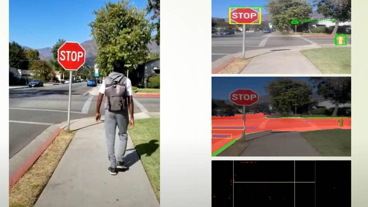 Lo zaino dotato di intelligenza artificiale che permette ai non vedenti di muoversi in sicurezza thumbnail