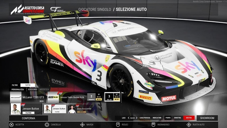Assetto Corsa Competizione British GT Button