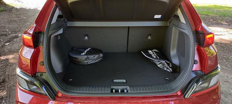 Hyundai Kona elettrica bagagliaio