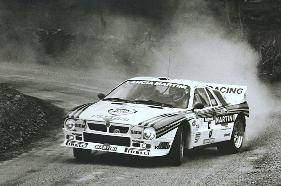 Lancia 037 in gara sterrato