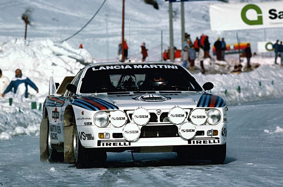 Lancia 037 in gara neve