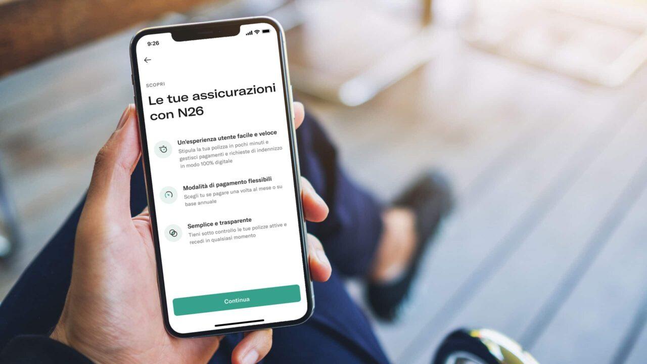 Assicurazioni, Mobile Bank N26 lancia l'innovativa polizza on demand thumbnail