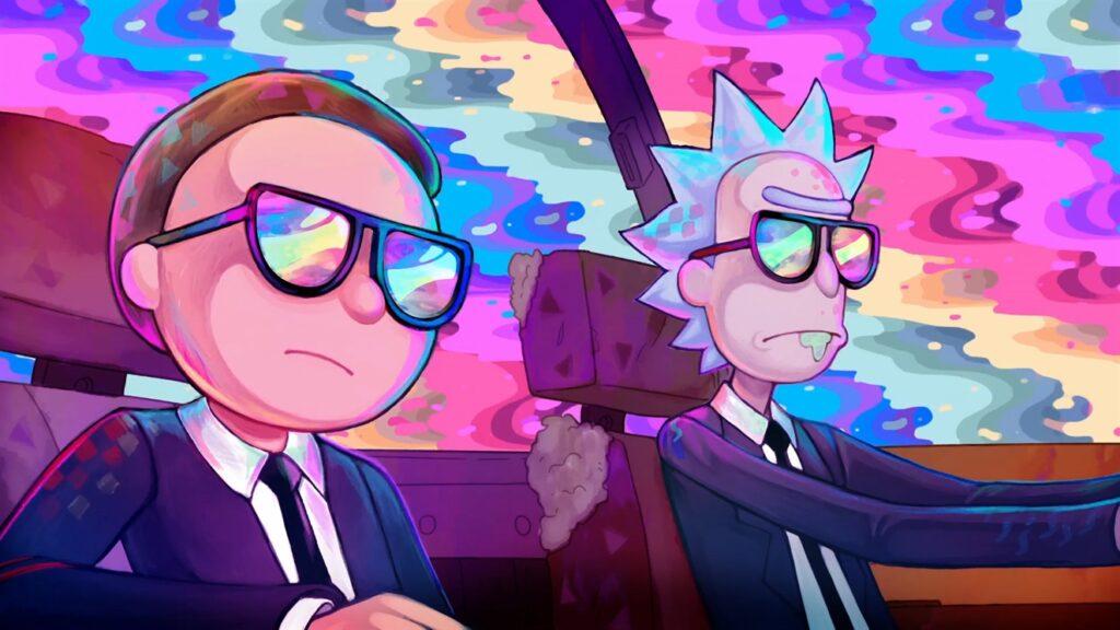 Rick e Morty NFT scena