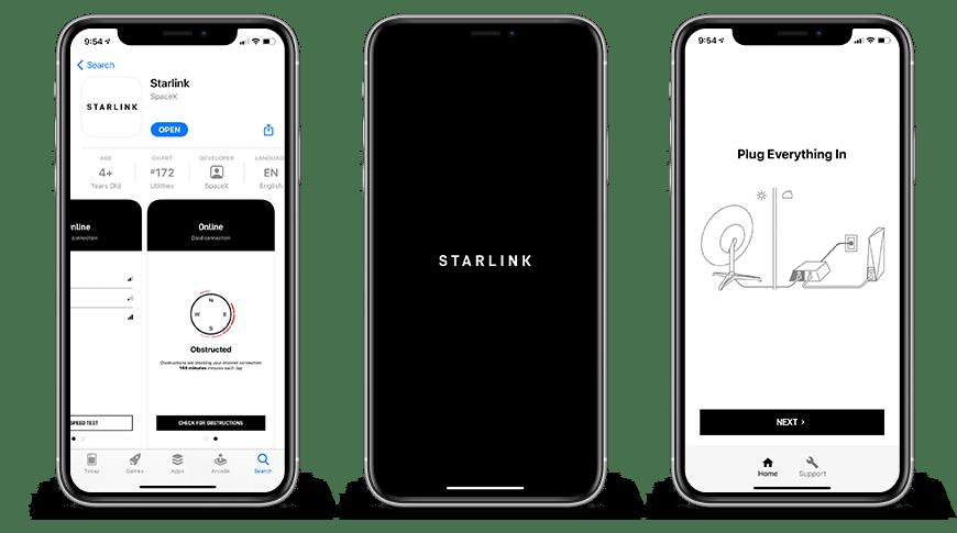 L'app Starlink