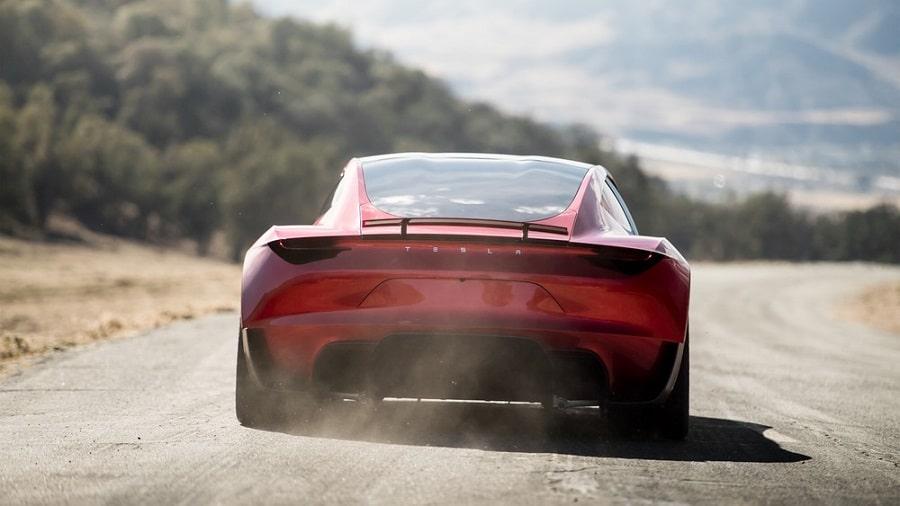 Tesla Roadster 2022 posteriore
