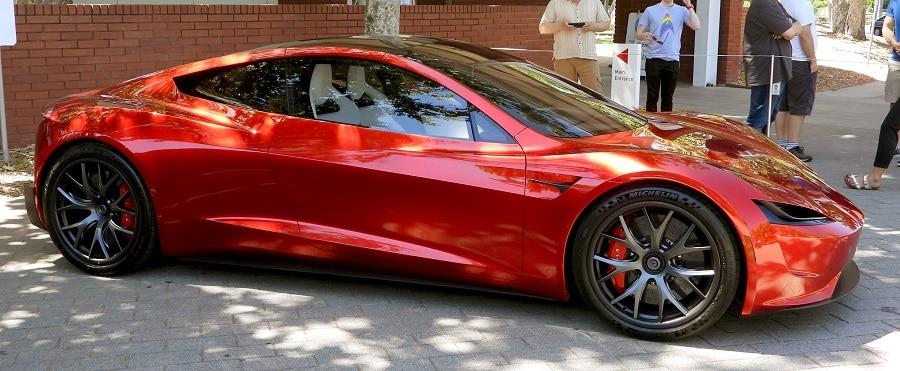 Tesla Roadster laterale