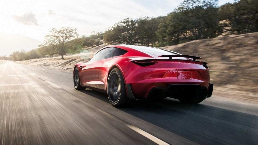 Tesla Roadster posteriore