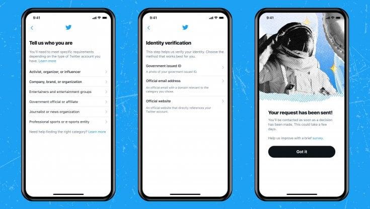 Twitter account badge blu