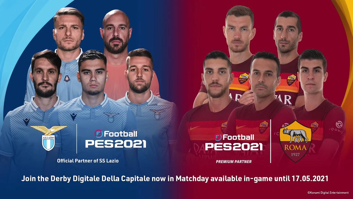 eFootball PES 2021: ecco il Derby Digitale tra Roma e Lazio thumbnail