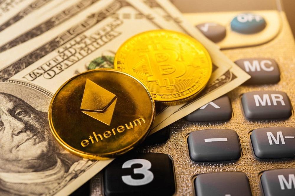 L'ascesa e la caduta di bitcoin sullo scambio di criptovaluta Vettore Premium