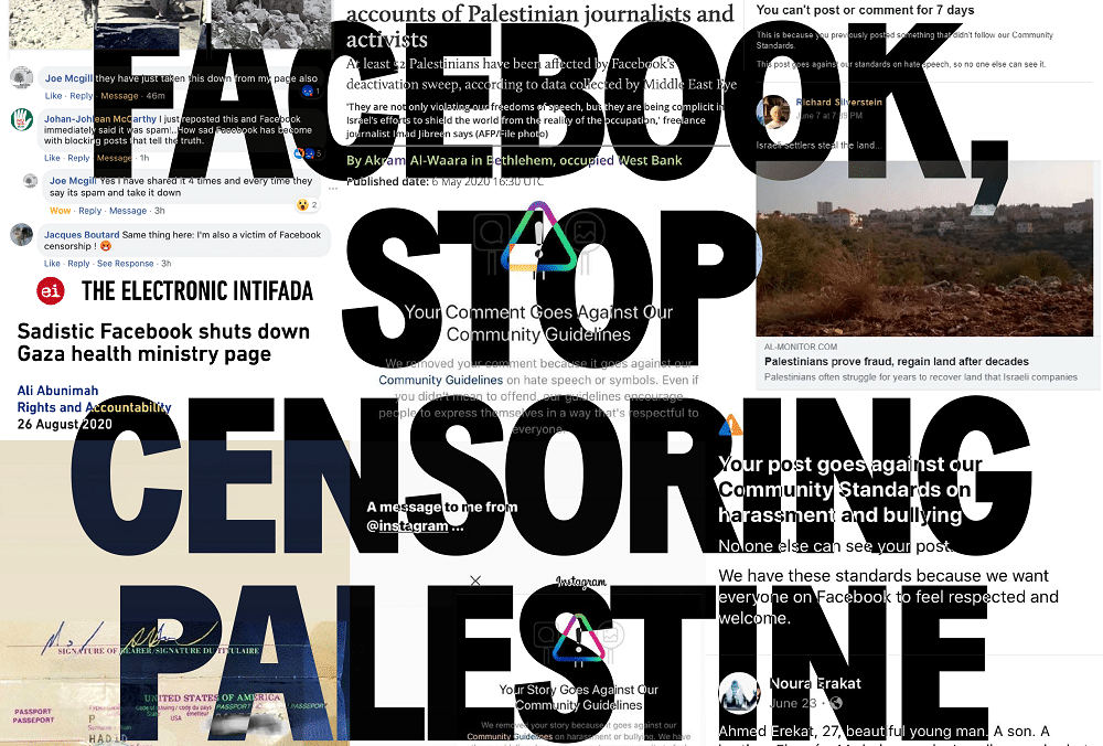 Facebook censura Palestina