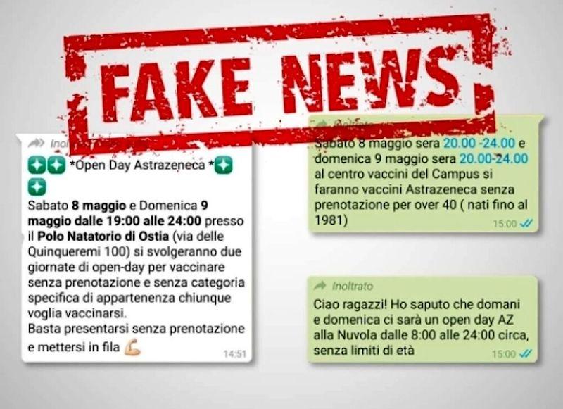 fake news opend day vaccini roma