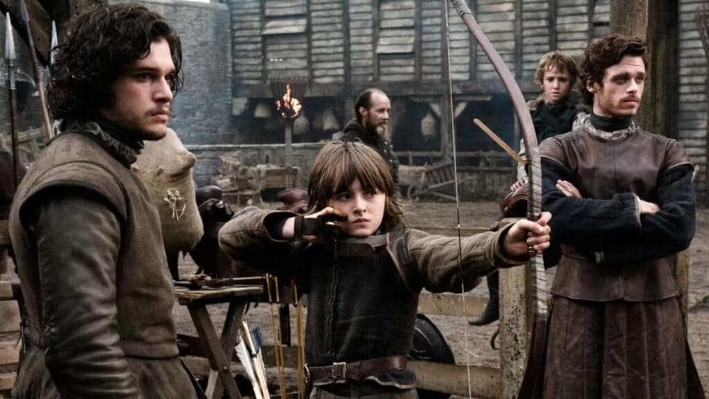 game of thrones jon snow, robb stark bran rickon