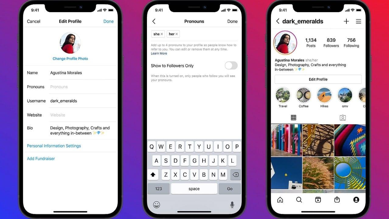 Instagram fa scegliere i pronomi nel profilo in base all'identità di genere thumbnail